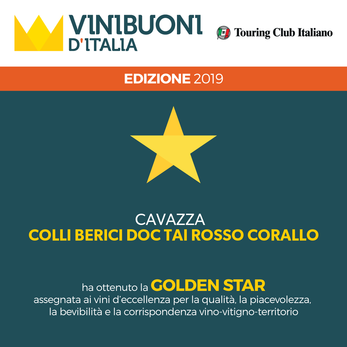 Golden Star Colli Berici DOC Tai Rosso Corallo